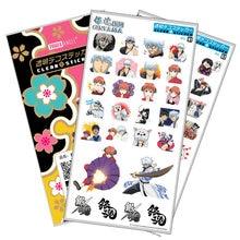 Anime Gintama Luxury Stickers Laptop Mobile Phone Book Plastic Transparent Decal Sticker Toy Sticker anime black butler plastic stickers transparent decal sticker for phone laptop book and other flat sticker children toy sticker