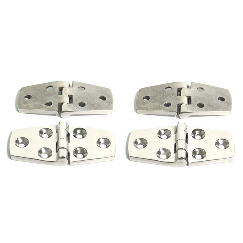 Stainless Steel Hinge 2mm Thick 40 76 Six Hole Hinge Boat Decoration Strap Accessories Heavy Hinge Door Loose Leaf in Marine Hardware from Automobiles Motorcycles