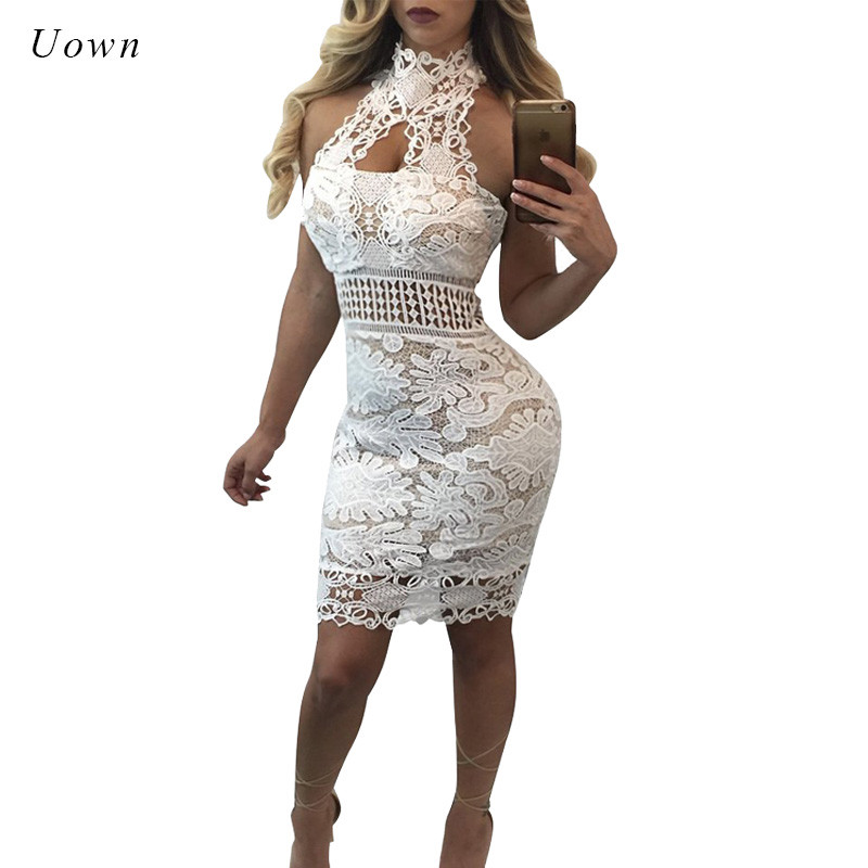 Us 1889 45 Offhalter Backless White Floral Lace Dress Women Sexy Summer Off The Shoulder Sleeveless Vintage Lace Overlay Bodycon Party Dresses In