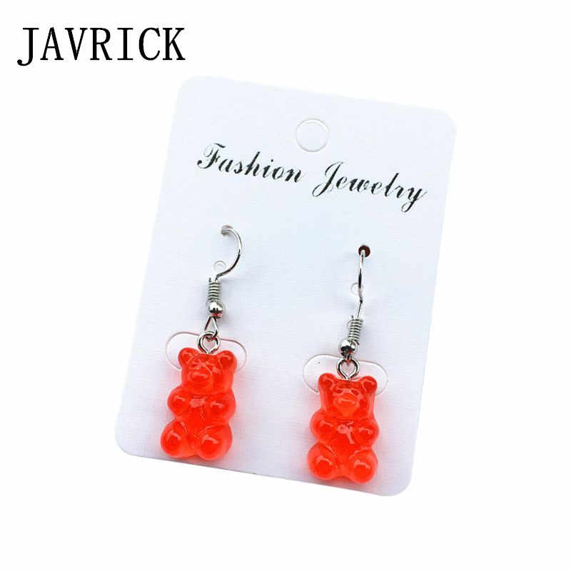 Creative Cute Mini Gummy Bear Women Earrings Minimalism Cartoon Design Female Ear Hooks Danglers Jewelry Gift