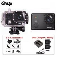Gitup Git2 Pro 1080 P Wi Fi 2 К Спорт действий Helemet Камера Открытый DV + двойной Зарядное устройство + 2 Батарея + 8 в 1 Аксессуары