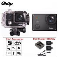 Gitup git2 Pro 1080 P Wi Fi шлем для спортивной экшн камеры 2k камера для наружной съемки + двойной Зарядное устройство + 2 Батарея + 8 в 1 Аксессуары