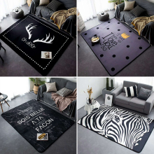 Global Series Home Carpet Europe Asia Black And White Style Bedroom Mat