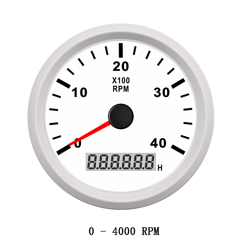 Marine Car Truck Tachometer Boat Motor Digital Hourmeter 12//24V 0-4000 RPM