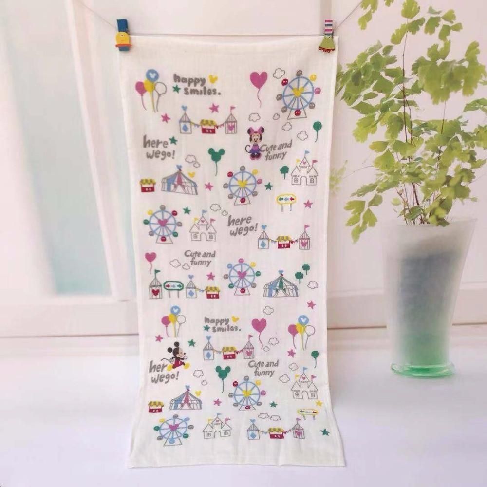 1 Stücke Cartoon Mickey Minnie Baby Taschentuch Jungen Mädchen Tragbare Handtuch Frottee Tuch Baumwolle Handtücher 35x75 Cm Cep Mendil Taschent Durchsichtig In Sicht