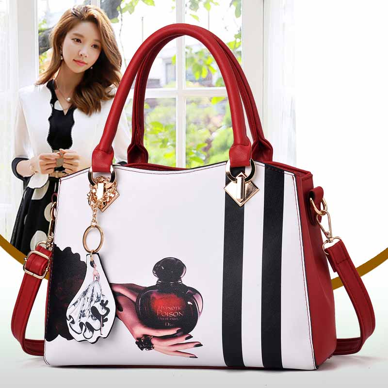 Europe women leather handbags PU handbag leather women bag patent handbag in Shoulder Bags from Luggage Bags