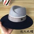 2017 la nueva Europa y los Estados Unidos sobre grande de lana de doble M normas de metal empalme sombrero traje de protección solar