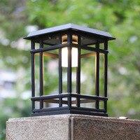 Solar column head light lawn wall lamp landscape garden light modern dual use waterproof outdoor door light wx12041715
