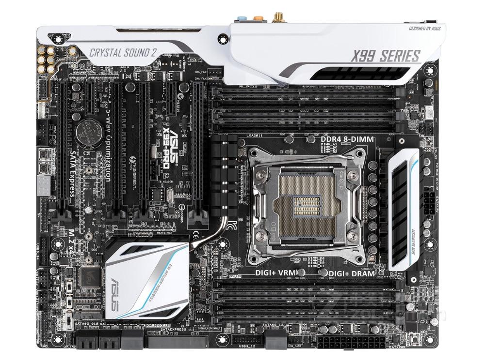 Original Motherboard ASUS X99-PRO DDR4 LGA 2011-V3 USB2.0 USB3.0 64GB X99 Desktop Motherboard Free Shipping