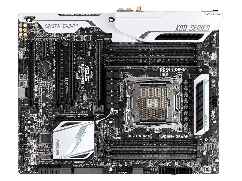 все цены на original motherboard ASUS X99-PRO DDR4 LGA 2011-V3 USB2.0 USB3.0 64GB X99 Desktop motherboard Free shipping