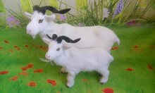 simulation sheep model,polyethylene&furs white goat toy,prop,home decoration Xmas gift w4225