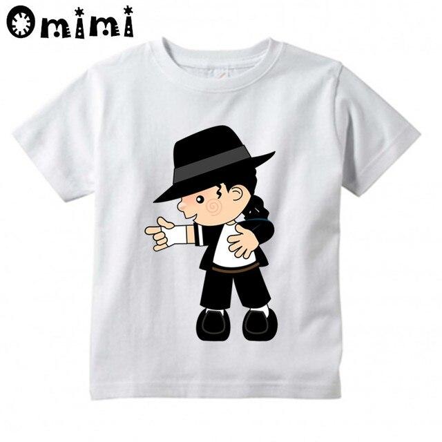 2b296ed53 Kids Rock N Roll Star Michael Jackson Bad Cartoon Design T-Shirts Music  Children's Tops Boys/Girls Rock T Shirt