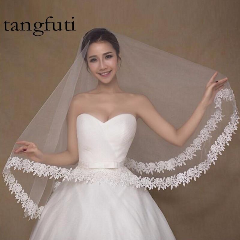 Velo de novia blanco de novia con velo de novia de 1,5 m de largo, - Accesorios de boda