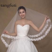 1.5 m Lace White Wedding Veil Bride Bridal Veil Long 2016   LF18