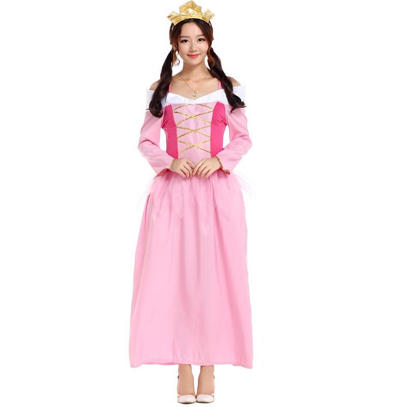 Free Shipping Princess Peach Halloween Sexy Costumes Womens Super Mario Costume Maid Carnival Fashion Fancy Dress Cosplay Women