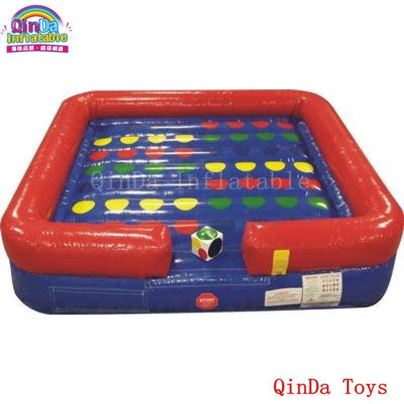 Commercial inflatable right foot and left hand games 5*5m inflatable twister board for outdoor event