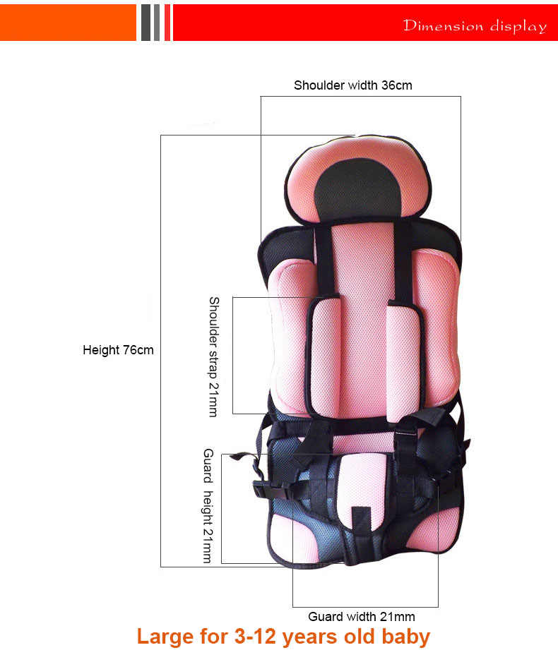 2019 ปรับรถเด็กที่นั่งปลอดภัยเด็กวัยหัดเดิน Booster ที่นั่งสถานที่แล้วรุ่นรถเด็กที่นั่งเด็กทารกแบบพกพาเก้าอี้รถยนต์
