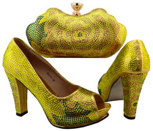 Nice-looking italian matching shoes and bag set ladies shoes and bag to match for nigerian wedding   SBCH1-6