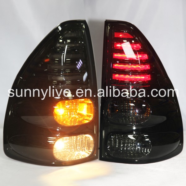 For TOYOTA Prado FJ120 LED Rear Lights  Black LF цена