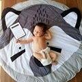 Diâmetro 93 cm Animais Fox Acolchoado Rodada Tapetes de Jogo Do Bebê Crianças Em Desenvolvimento Cobertores Tapete Engatinhando Tapete Para As Crianças Decoração do Quarto
