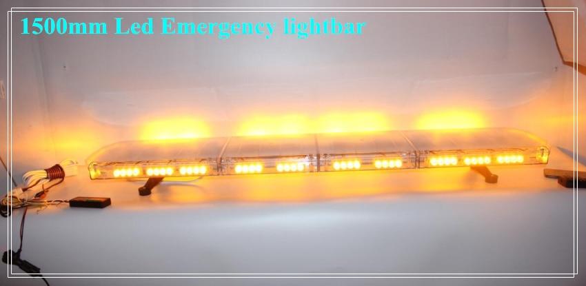 Higher star 150cm 104W Led emergency lightbar,police ambulance fire warning light bar with controller,waterproof high intensity 24w led mini warning lightbar police emergency light bar with cigarette lighter magnet mounted 15flash waterproof