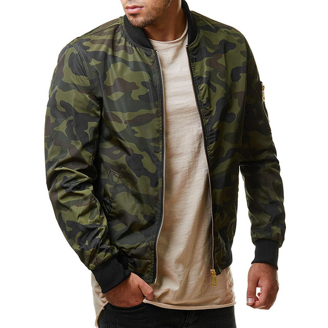5e7db4e98ec Varsanol New 2018 Jacket Men Casual Loose Mens Jacket Bomber Jacket And Coats  Plus Size M- 7XL 100kg Camouflage Outwear Tops