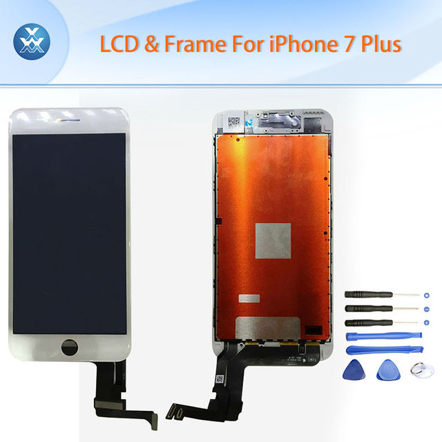 """LCD Display replacement for Apple iPhone 7 7 Plus LCD display touch screen digitizer glass bezel assembly black white 4.7"""" 5.5"""""""