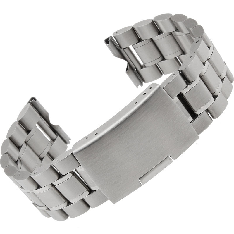 Mance Super Quality 24mm Silver Stainless Steel Bracelet Watch Band Strap Straight End Solid Links Fashion Design 2018 On Sale new high quality 18mm 20mm 22mm women men stainless steel bracelet watch band strap straight end solid links watch accessories