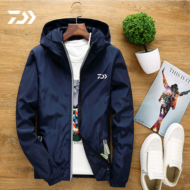 391c06d8 2018 DAIWA Thin Fishing Shirts Hooded Outdoor Quick Dry Camping Fishing  Windbreaker Jacket Breathable Fishing Clothes M-6XL