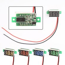 DC 4.5~30V No power supply needed Mini Red LED Panel Voltage Meter 3-Digital Adjustment Voltmeter