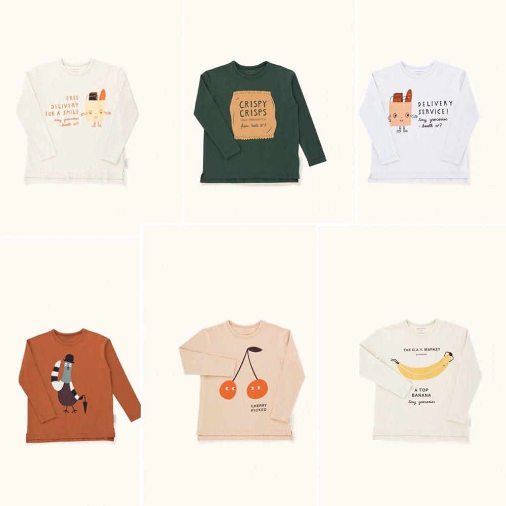 BOBOZONE 2018 F/W tc Saco Amigável Graphic Tee t da longo-luva para crianças