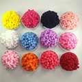 400Pcs 10mm Round Pink Red White Blue Purple Yellow Black Plush Ball DIY Crafts Pom Poms Wedding Garment Decoration Accessories