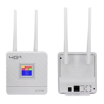 جهاز توجيه Cpe لاسلكي محمول Cpe903 الجيل الثالث والرابع مزود بخاصية الواي فاي Lte مزود بمنفذ Wan/Lan وهوائيات خارجية مزدوجة غير مؤمنة مع بطاقة Sim S