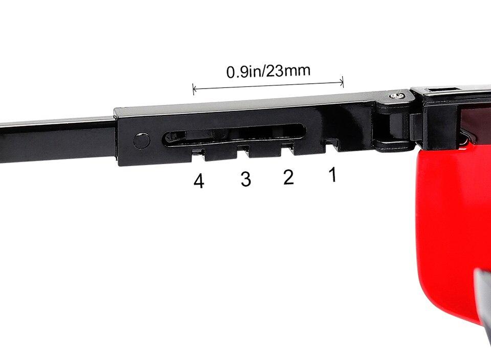 com laser vermelho para realce, laser ajustável, óculos de proteção