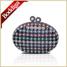 Mode Frauen Kupplungen Kuss Knopf Perlen Abendtasche Langen Kette Frauen Kleine Handtasche Tag Kupplung Geldbörse Kostenloser Versand