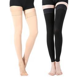 Женские чулки до бедра выше колена компрессионные длинные чулки лечение отек варикозного расширения вен отек