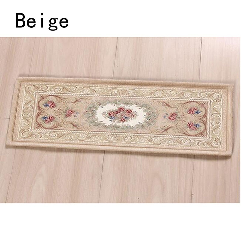 75cm*26cm Floral Pattern Stair Stepping Mats Carpet Home Living Room Decorations