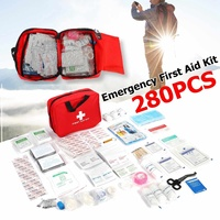 Hot Sale 34 Categories 280Pcs Emergency survival bag Mini First Aid Kit Sport Travel kits Home for Outdoor Camping Medical bags