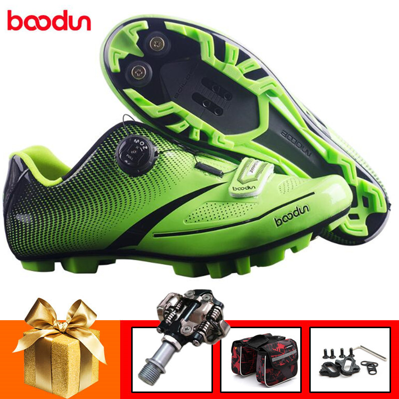 BOODUN cycling shoes add spd pedal set sapatilha ciclismo mtb mountain bike shoes racing professional bicycle sneakers menBOODUN cycling shoes add spd pedal set sapatilha ciclismo mtb mountain bike shoes racing professional bicycle sneakers men