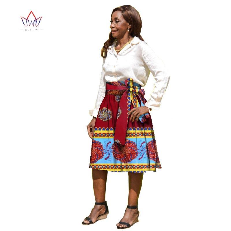 2017 Bintarealwax Summer Women Clothing African Print Skirts Ankara Fashions Midi Kitenge A Line Skirts Dashiki With Belt Wy1818 Print Skirt A Line Skirtfashion Skirt Aliexpress