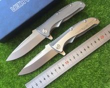 Creative design company VG10 folding knife blade TC4 titanium alloy processing outdoor camping hunting pocket EDC
