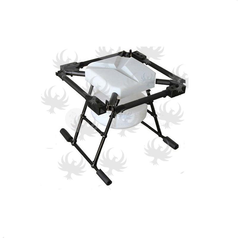 Oyuncaklar ve Hobi Ürünleri'ten Parçalar ve Aksesuarlar'de DIY JMR X1380 10L Tarım püskürtme drone 1380mm dairesel katlanır saf karbon fiber drone iskeleti + iniş + 10 KG tankı'da  Grup 1
