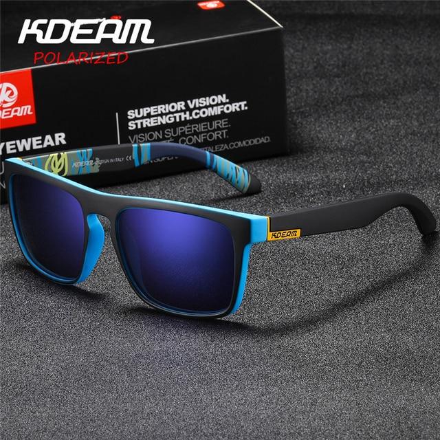 7150a9f321 Gafas de sol deportivas KDEAM para hombre con bisagras de Metal de marca de  diseñador para