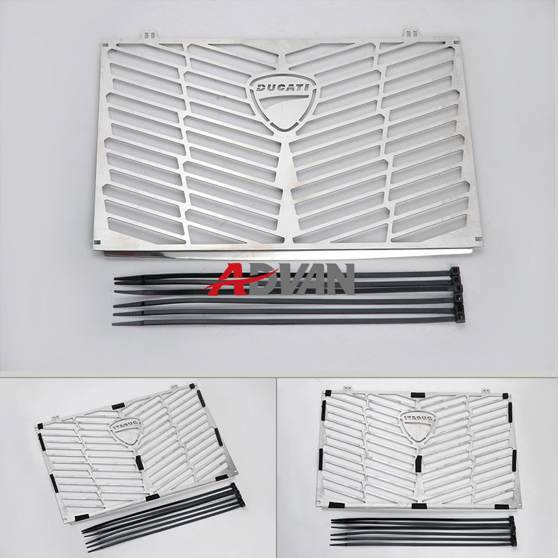 Motorcycle Stainless Steel Radiator Bezel Grill Grille Guard Cover Protector For Ducati Multistrada 1200 for kawasaki z900 2017 motorcycle radiator guard gloss stainless steel grille bezel radiator net protective cover