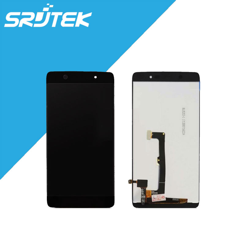 5.2 For OT6055 1920x1080 LCD Display + Touch Screen Digitizer Full Assembly For Alcatel one Touch Idol 4 6055 OT6055 Black