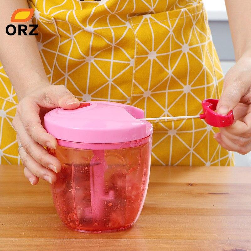 ORZ Cuisine Alimentaire Processeur Handhelp Hachoir À Viande Fruits Légumes Chopper Noix Herbes Oignons Coupe Salade Hachoir Cuisson Outils