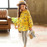 Spring Clothing Autumn Set For Girls Long Sleeve Girls Costumes Floral Child Clothes 6 8 12 Years Casual Teen Kids Clothing