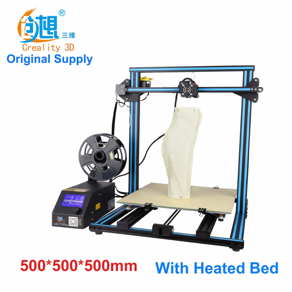 Free Shipping 2017 Creality CR-10-plus Large Printing Size DIY Desktop 3D Printer printing various Filament With Heated Bed creality 3d cr 10 cr 10s 3d printer with aluminum heated bed high precisio free testing filament free tool set free shipping