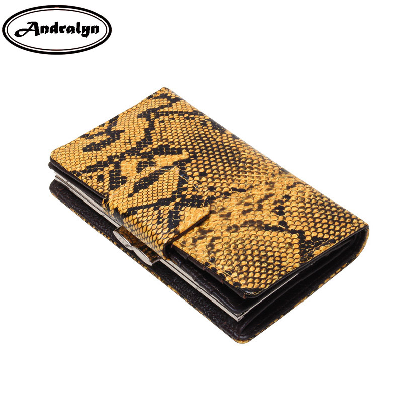 Andralyn Women Wallets Long Snake Split Leather Wallet Female Serpentine Hasp Clutch Coin Purse Ladies Card Holder Purses leather wallets women wallet long designer coin purses female clutch ne credit card holder solid candy color hasp girl
