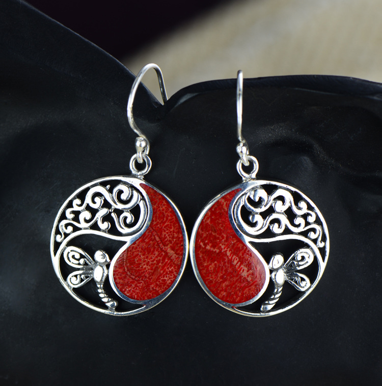 2018 New Arrival Ornaments Wholesale National Wind Hollow Circular Grass Coral Earrings Manufacturers Selling Womens Butterfly 2018 New Arrival Ornaments Wholesale National Wind Hollow Circular Grass Coral Earrings Manufacturers Selling Womens Butterfly